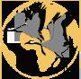 ikona-wedrowki-lubelskich-zurawi-na tle globu